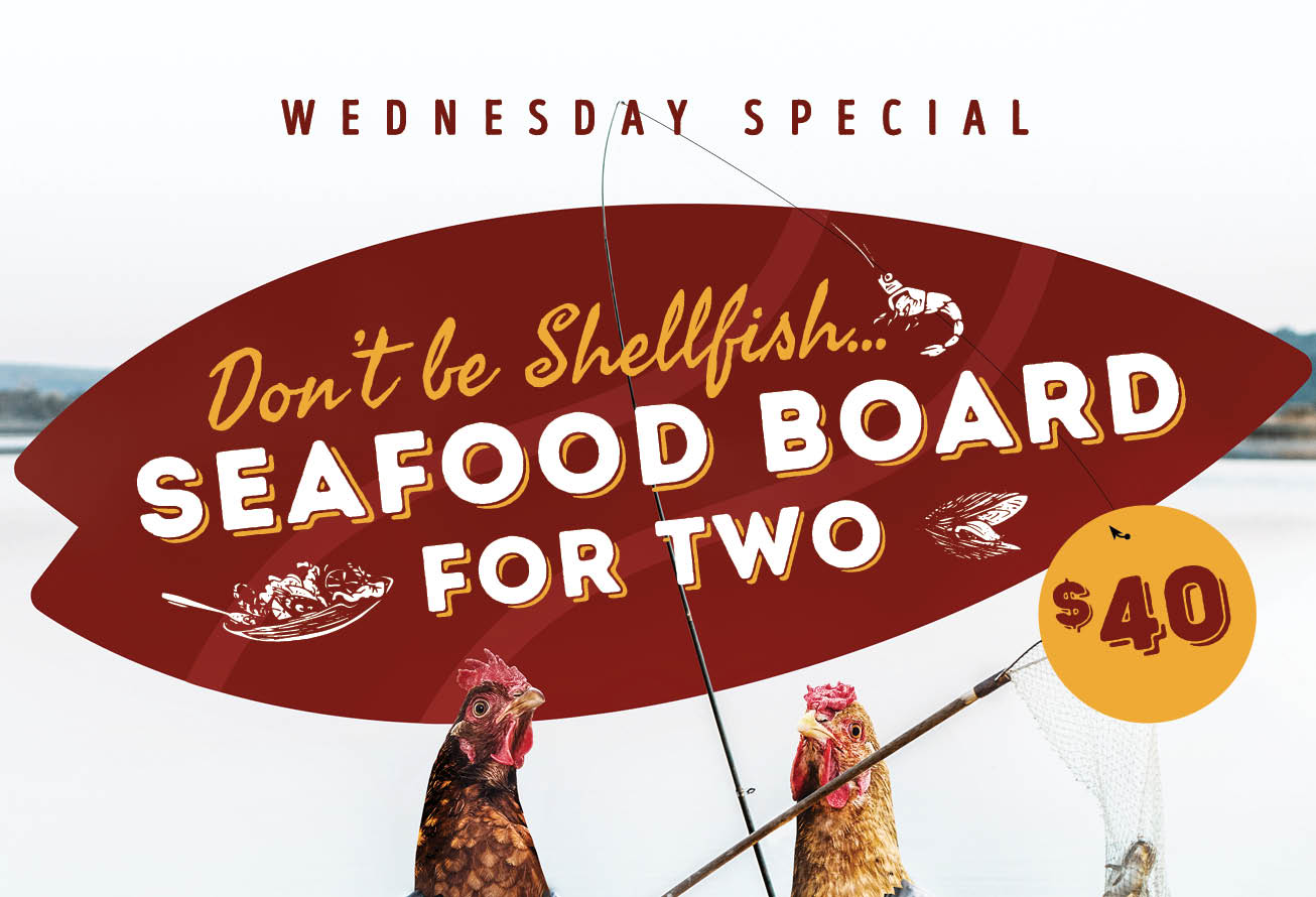 'Don't be Shellfish' Wednesday Seafood Special